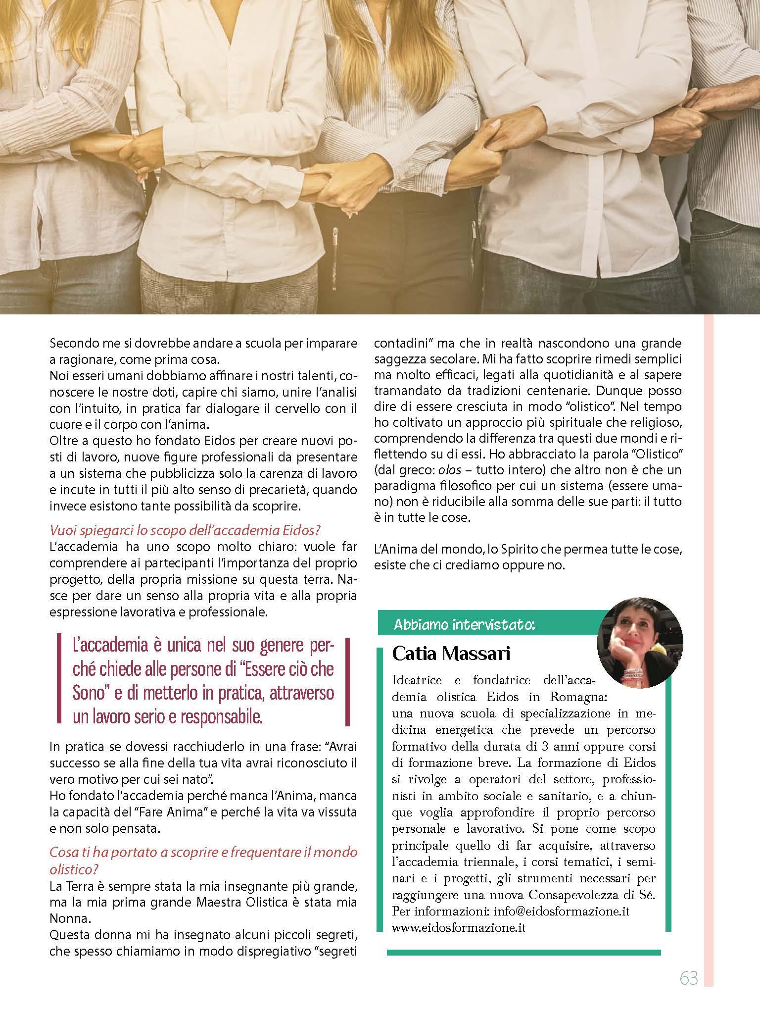 Articolo dedicato a EIDOS Formazione su Vivi Consapevole